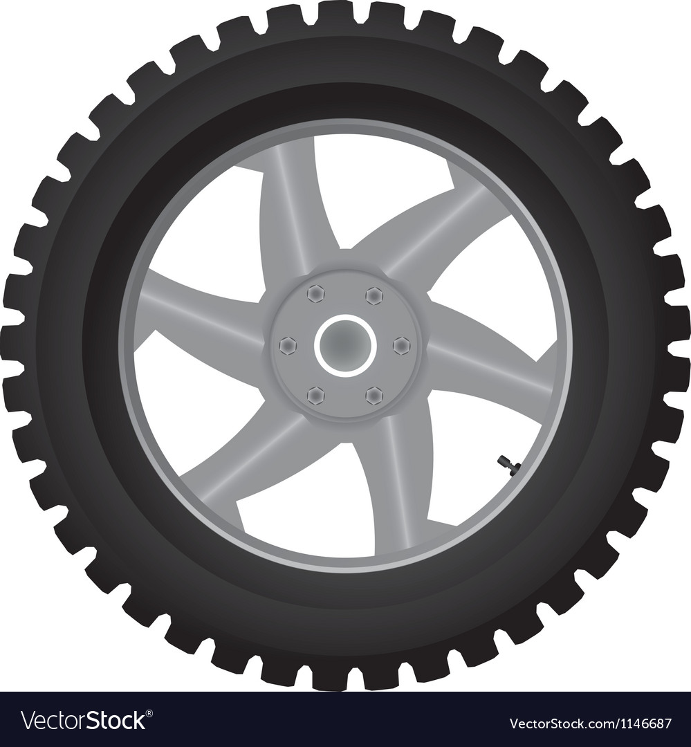 Normal car wheel on a white background vector | Price: 1 Credit (USD $1)