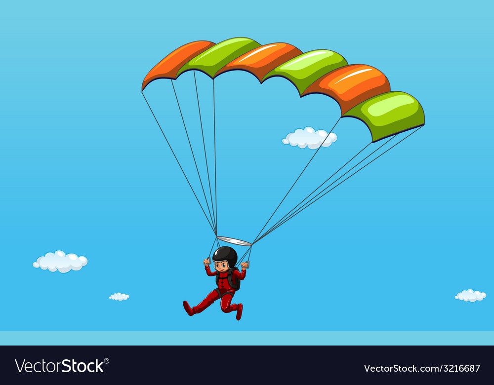 Parachute vector | Price: 1 Credit (USD $1)