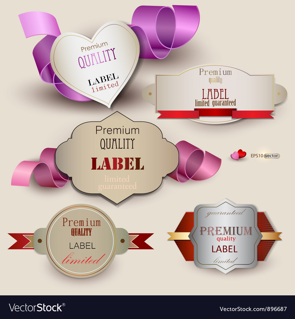 Quality satisfaction guarantee set vector | Price: 1 Credit (USD $1)