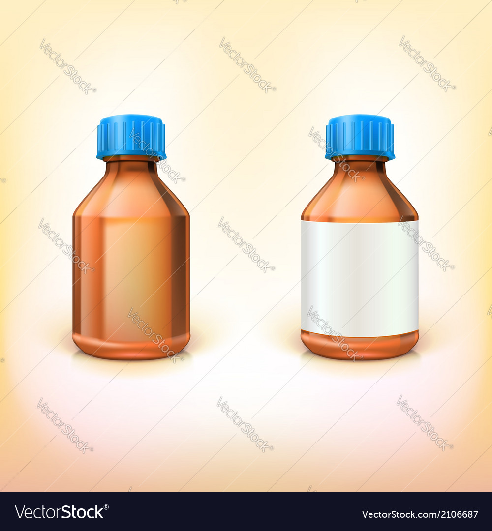 Vial for drugs vector | Price: 1 Credit (USD $1)