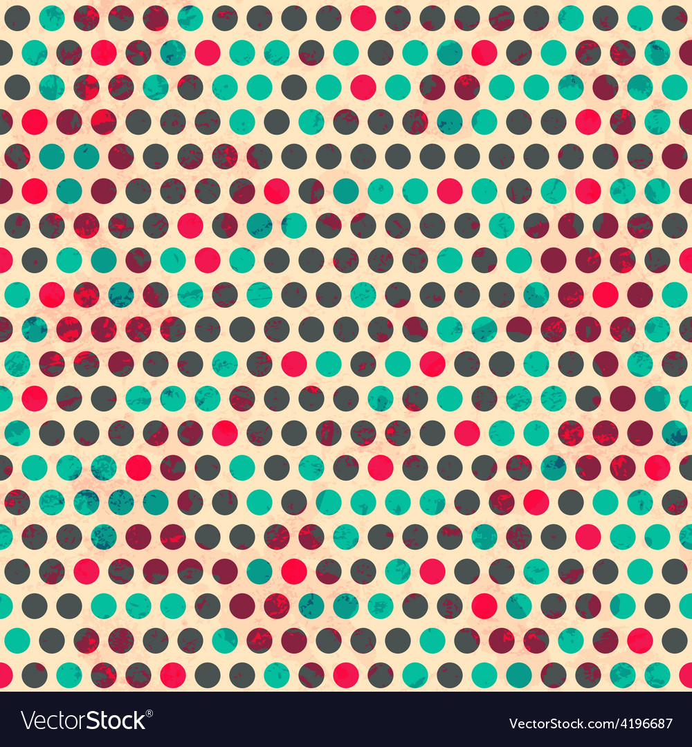 Vintage circle seamless pattern with grunge effect vector | Price: 1 Credit (USD $1)