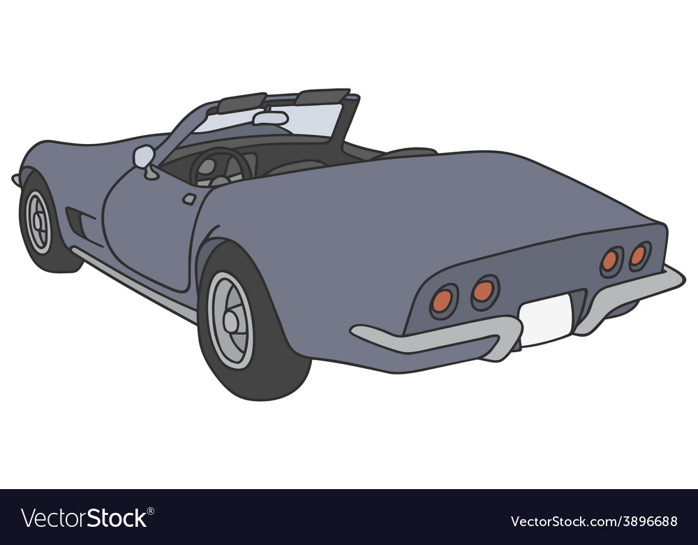 Blue roadster vector | Price: 1 Credit (USD $1)