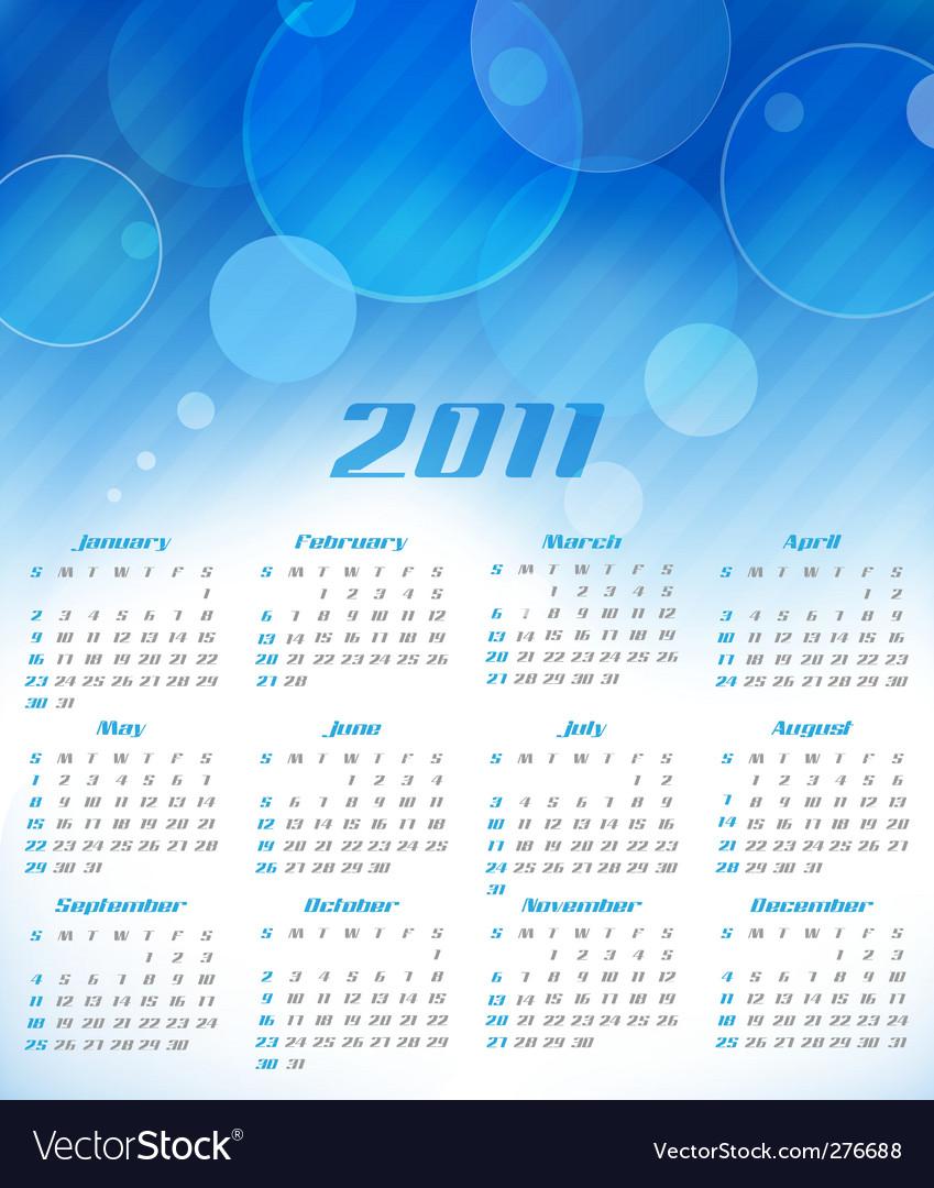 Calendar for 2011 vector | Price: 1 Credit (USD $1)