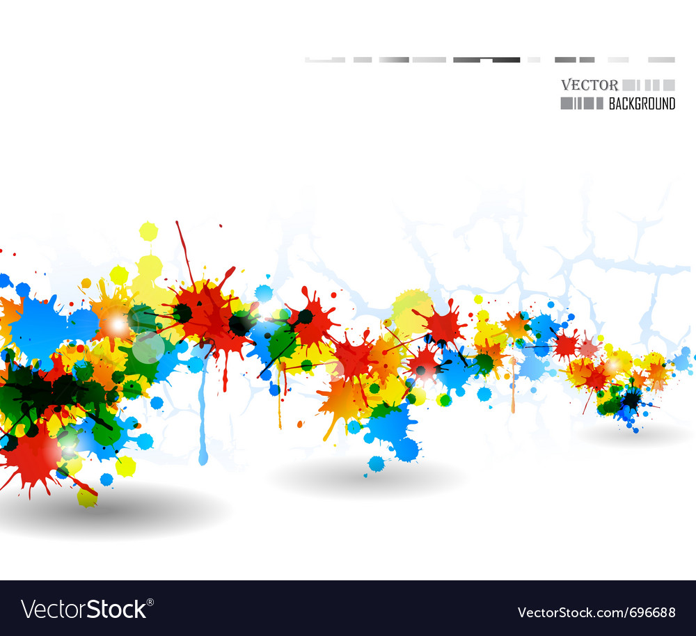 Colour splash poster vector | Price: 1 Credit (USD $1)