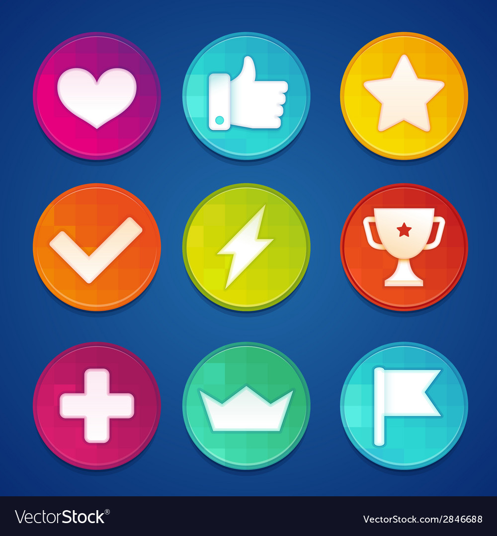 Gamification badges vector | Price: 1 Credit (USD $1)