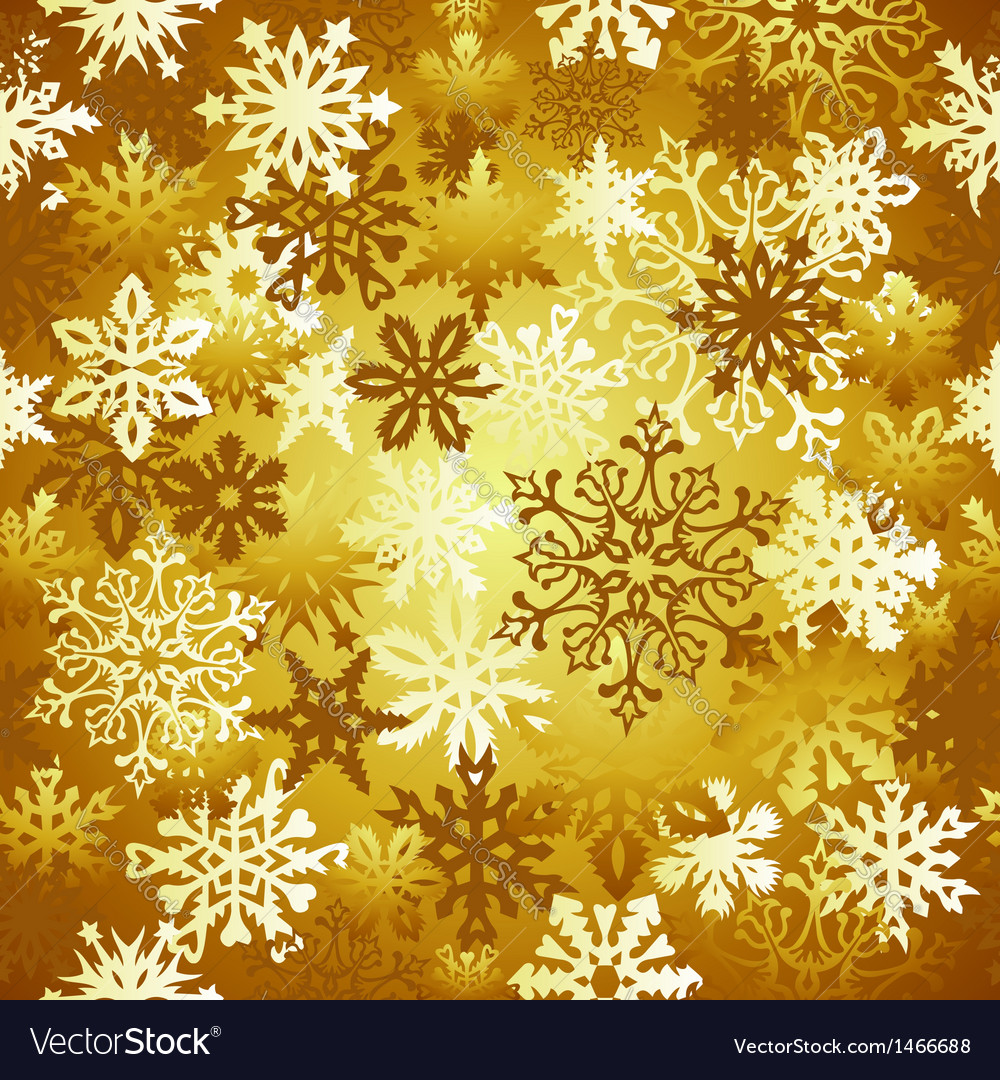 Gold christmas snowflakes pattern vector | Price: 1 Credit (USD $1)