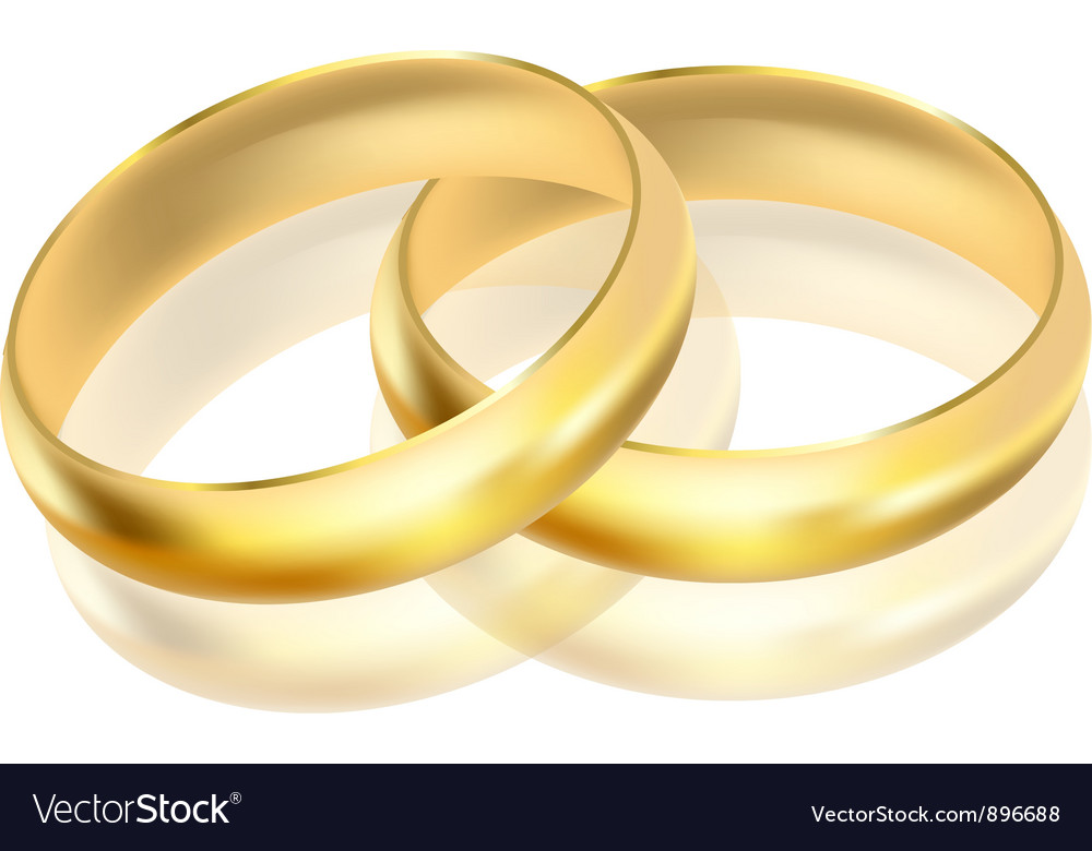Gold rings vector | Price: 1 Credit (USD $1)