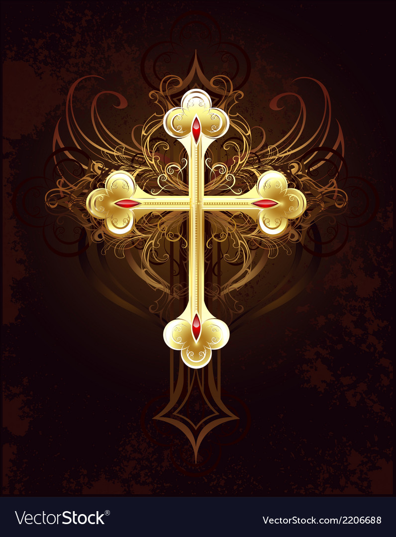 Golden cross vector | Price: 1 Credit (USD $1)