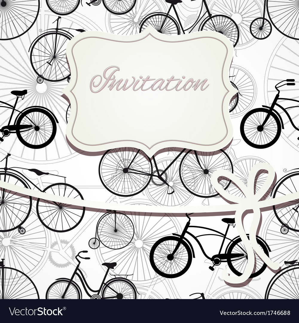 Hipster invitation card in vintage style vector | Price: 1 Credit (USD $1)