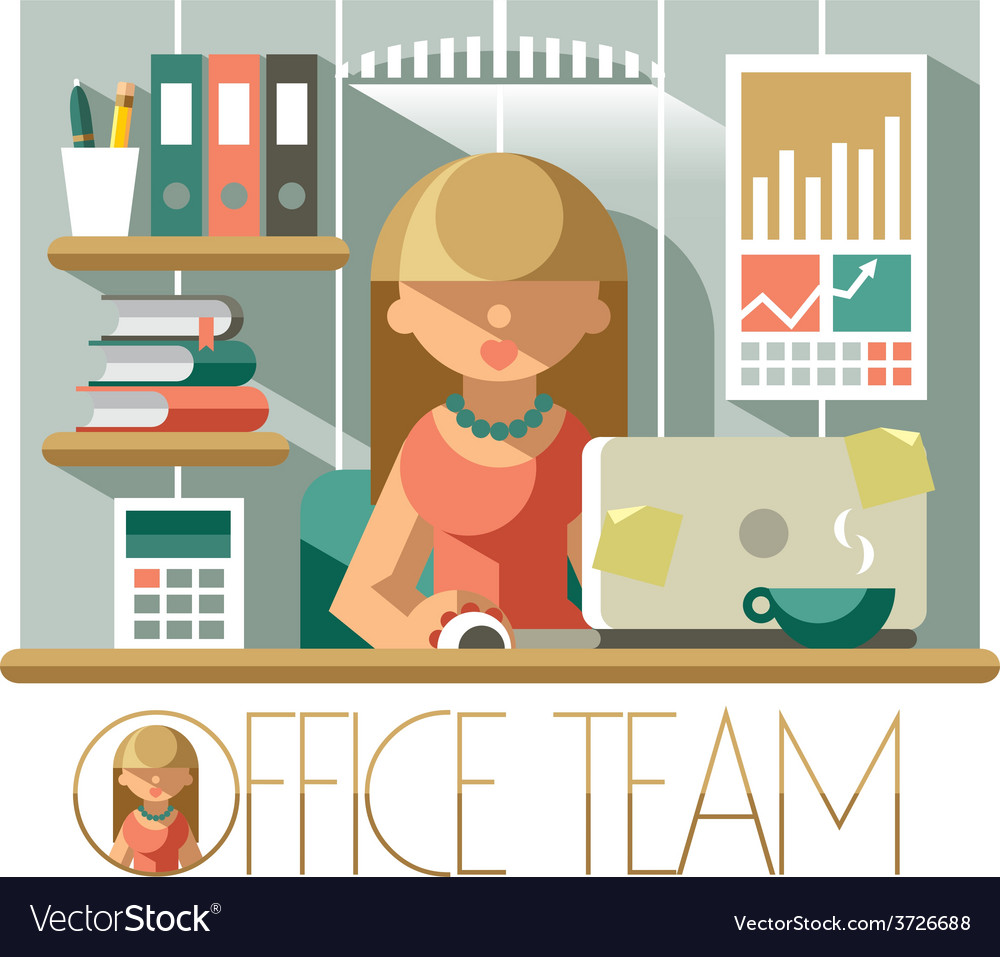 Office team accountant vector | Price: 1 Credit (USD $1)