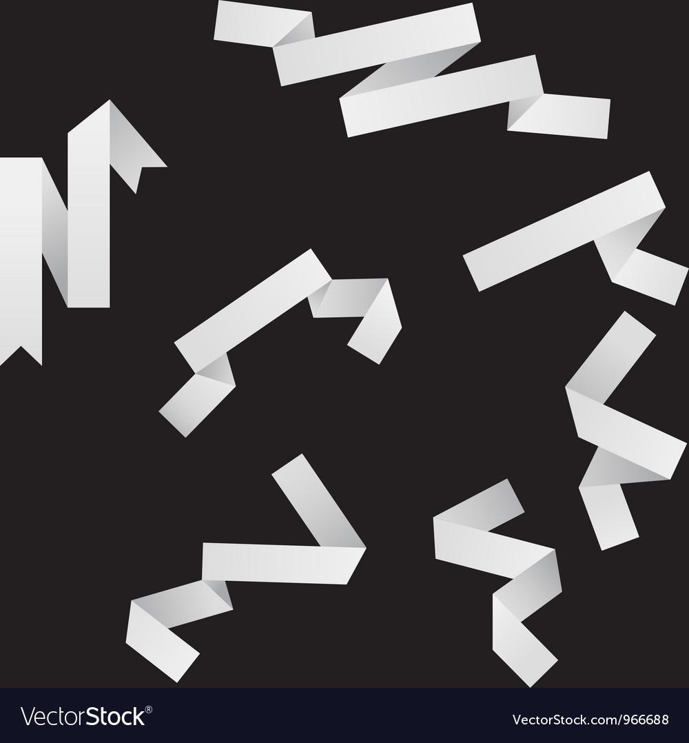Origami ribbons vector | Price: 1 Credit (USD $1)