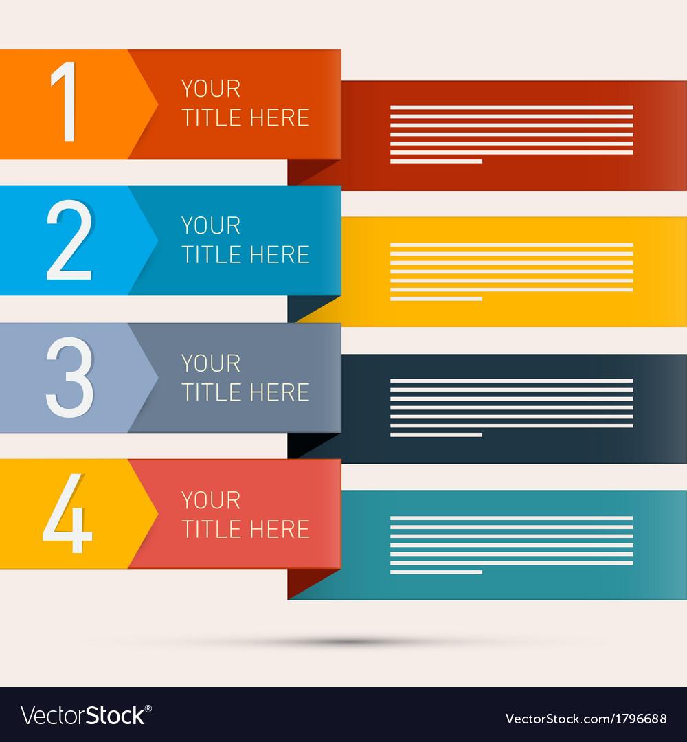 Progress steps for tutorial infographics vector | Price: 1 Credit (USD $1)