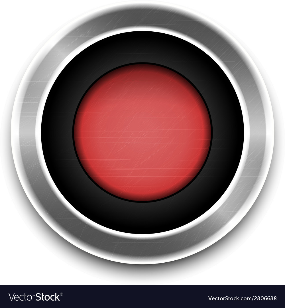 Red button isolated vector | Price: 1 Credit (USD $1)