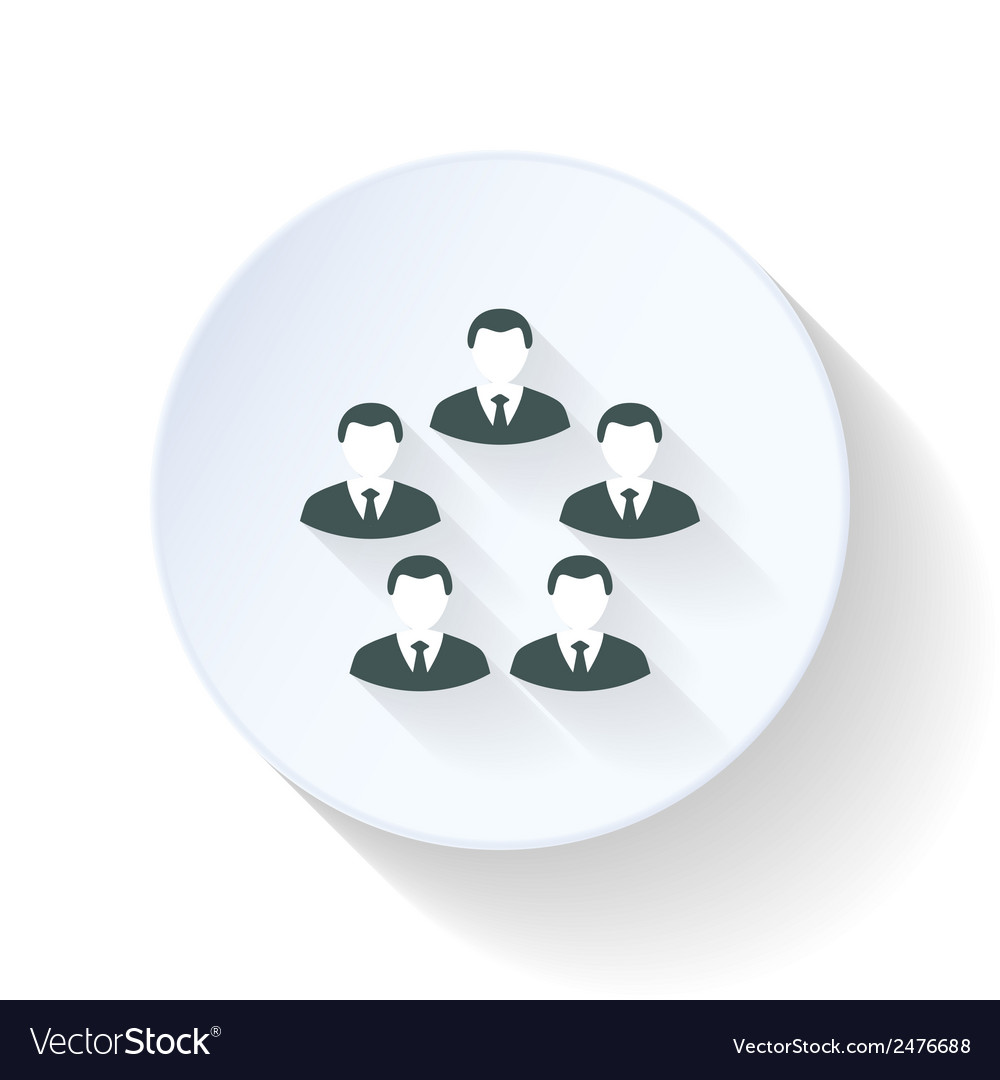 Team flat icon vector | Price: 1 Credit (USD $1)