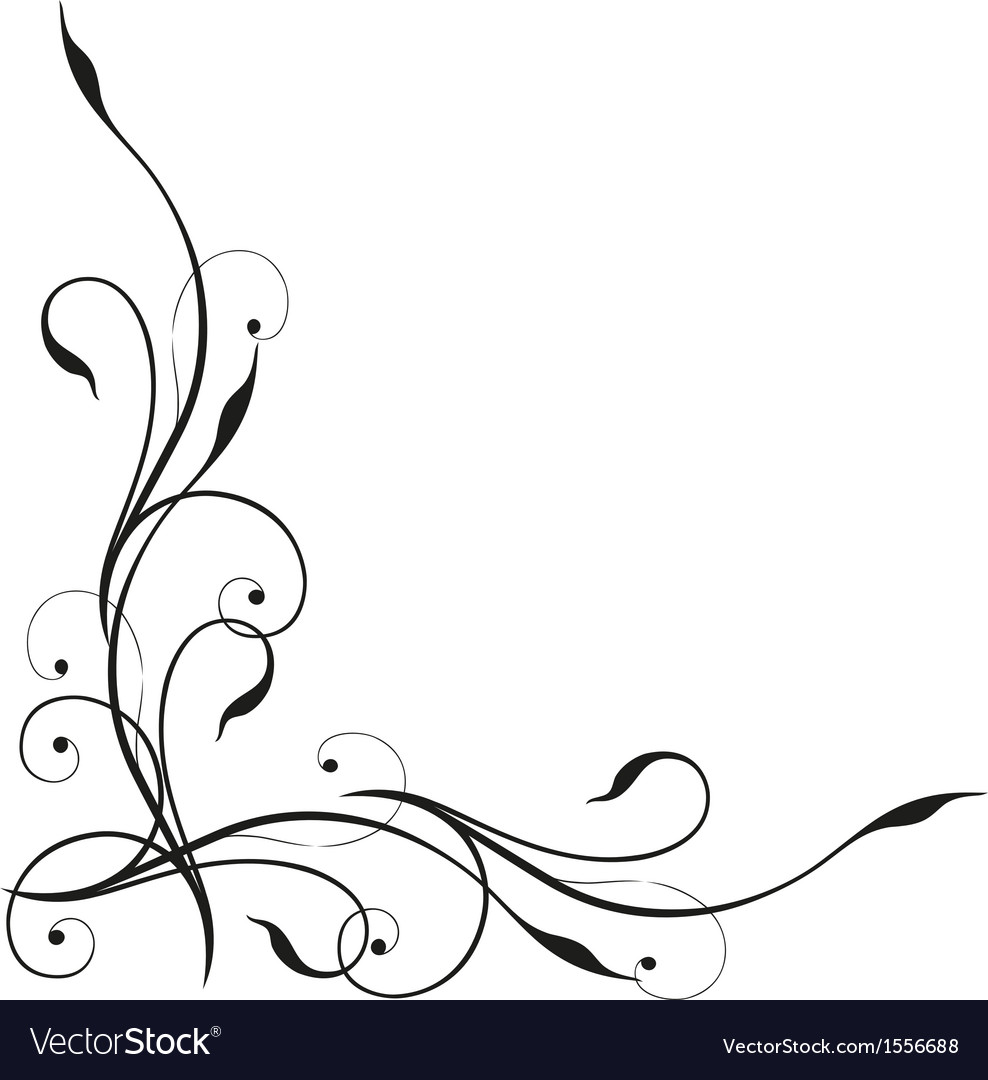 Tendril border vector | Price: 1 Credit (USD $1)