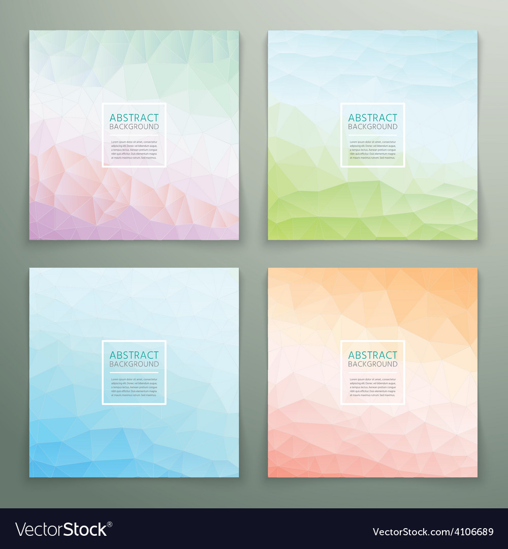 Abstract polygonal with square text background set vector | Price: 3 Credit (USD $3)