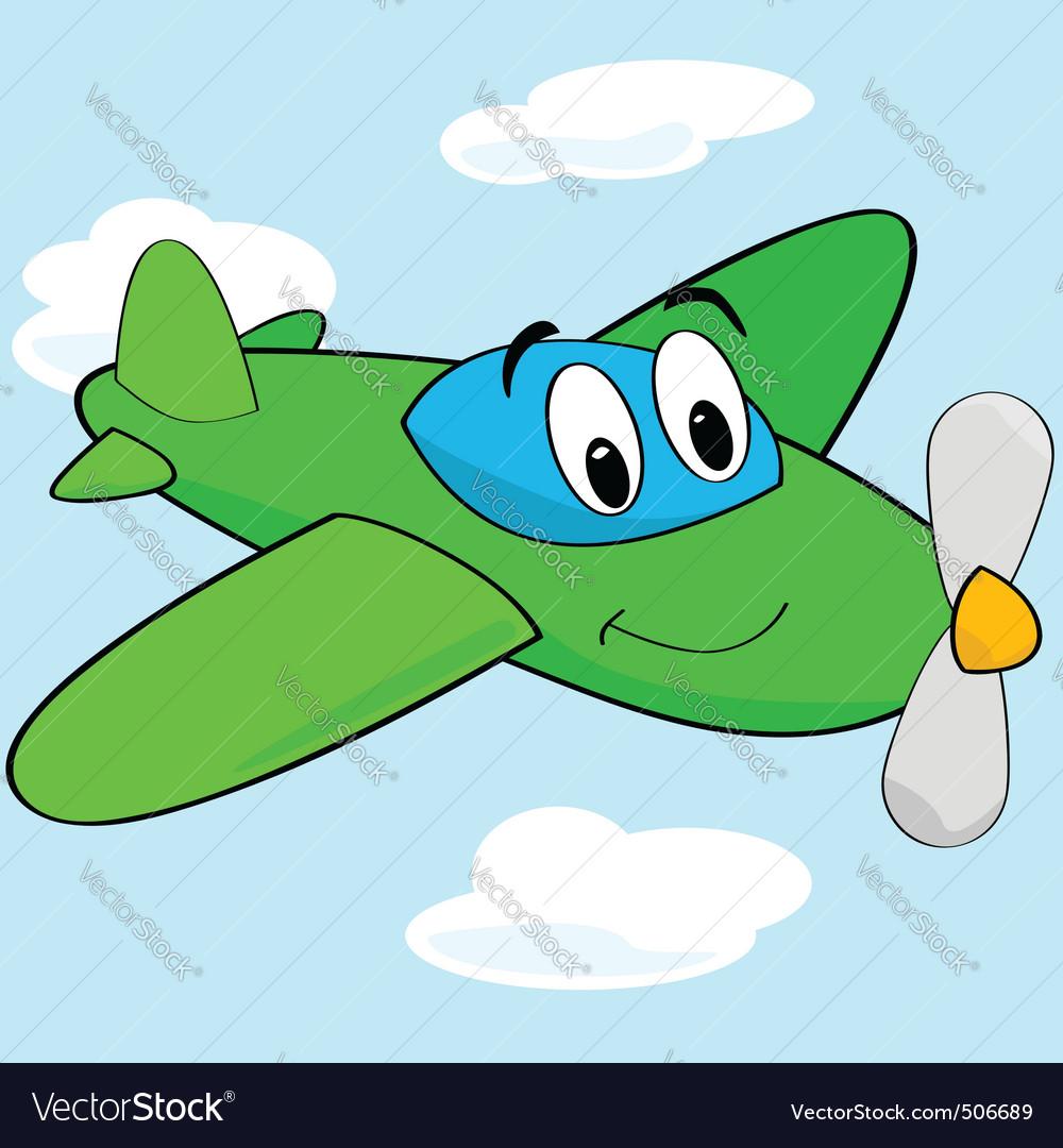 Cartoon airplane vector | Price: 1 Credit (USD $1)