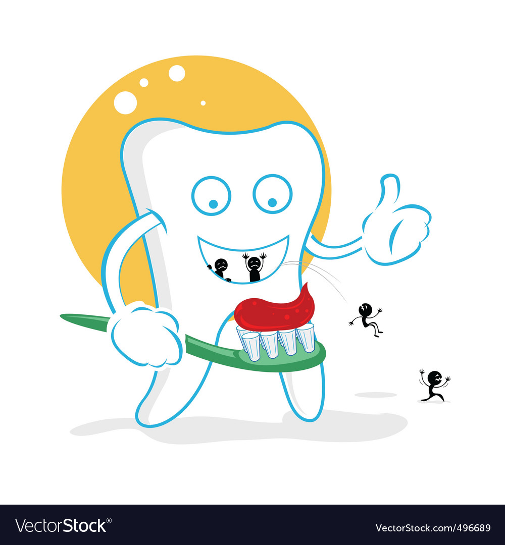 Cartoon tooth decay vector | Price: 1 Credit (USD $1)