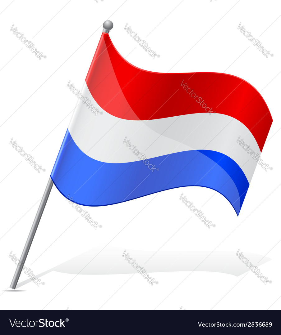 Flag of holland vector | Price: 1 Credit (USD $1)