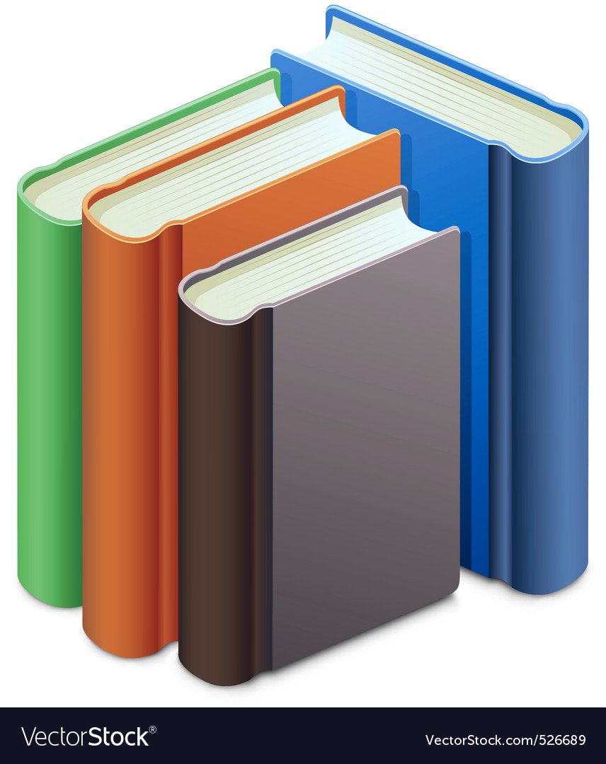 Group of books vector | Price: 1 Credit (USD $1)