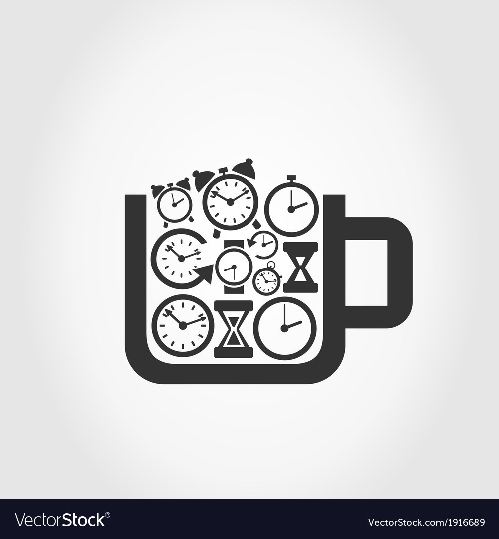 Hours a cup vector | Price: 1 Credit (USD $1)