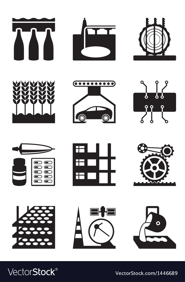 Light and heavy industry vector | Price: 1 Credit (USD $1)