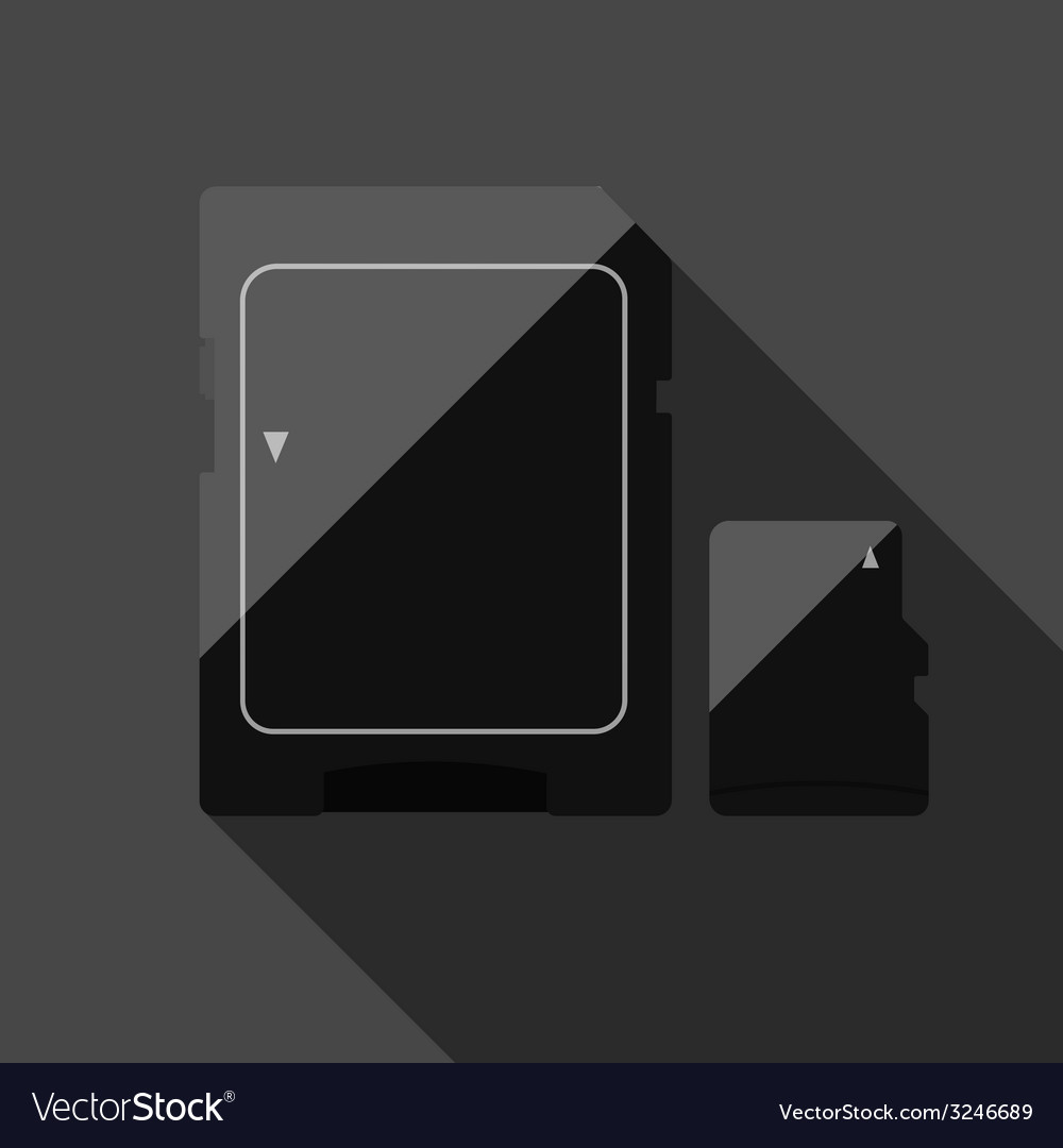 Memory cards vector | Price: 1 Credit (USD $1)