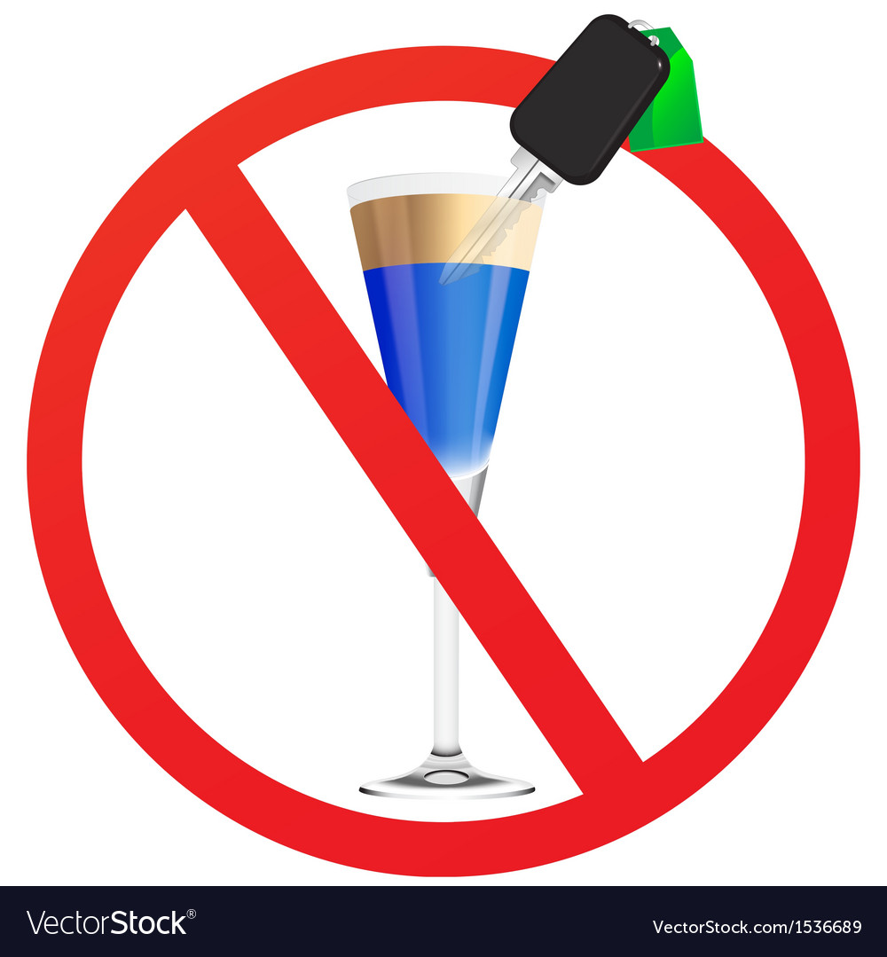 No drunk driving vector | Price: 1 Credit (USD $1)