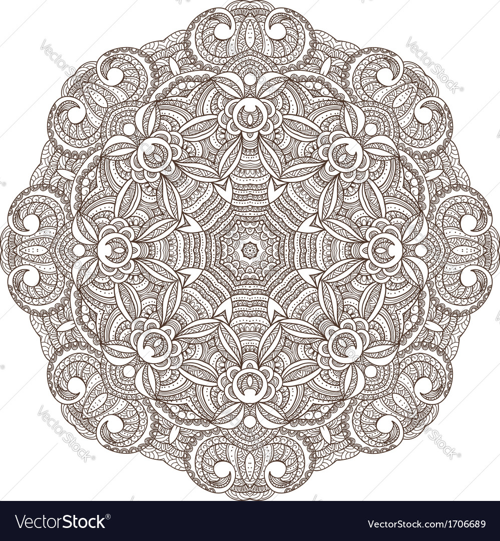 Ornamental round lace patternarabesque designs vector | Price: 1 Credit (USD $1)