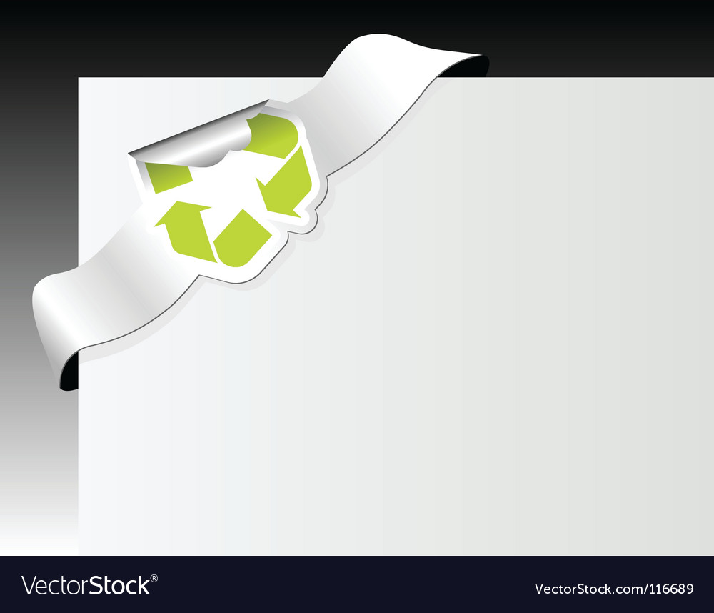 Recycle symbol in the corner vector | Price: 1 Credit (USD $1)