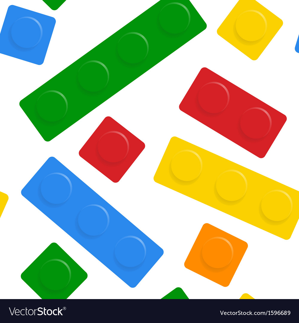 Seamless block on white background vector   Price: 1 Credit (USD $1)