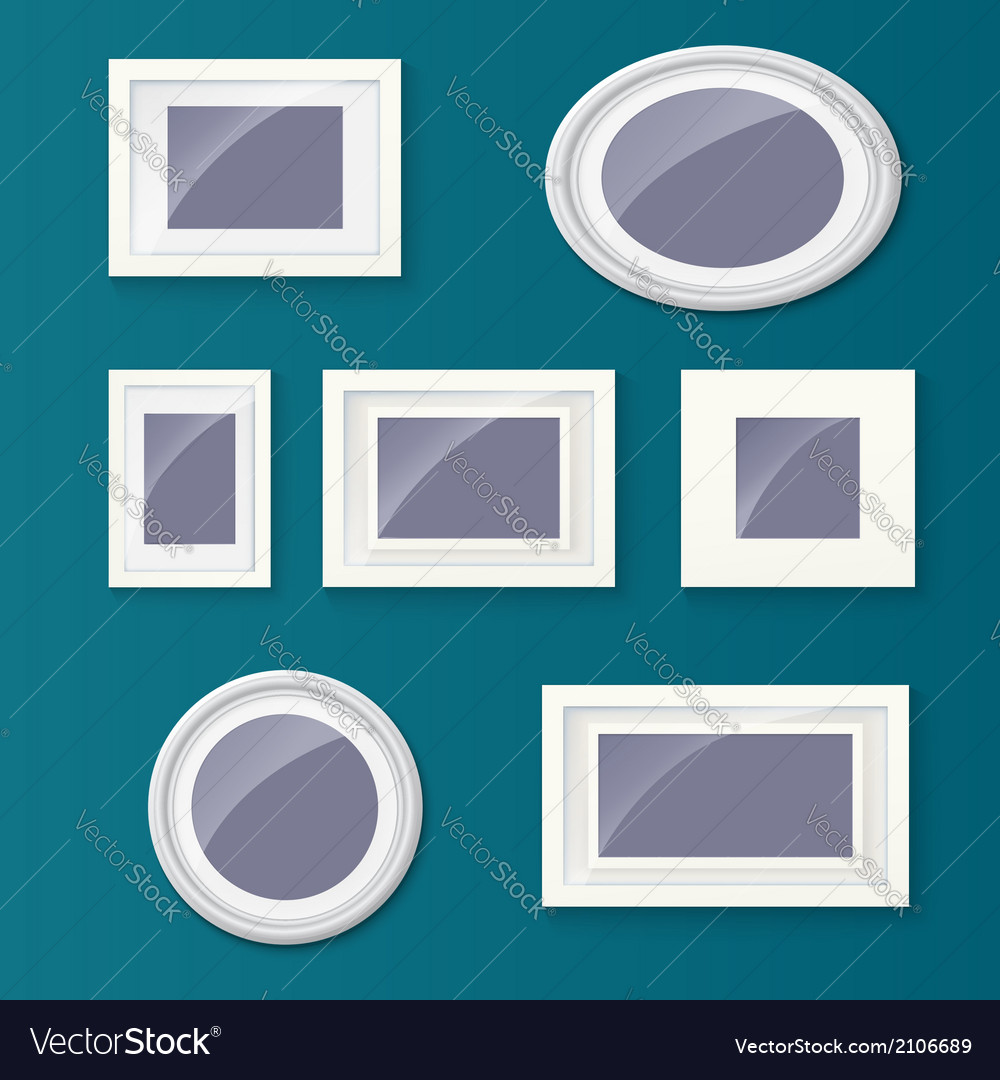 Set of different picture frames and pictures vector | Price: 1 Credit (USD $1)
