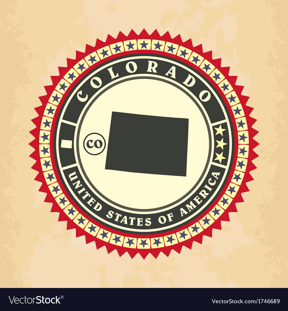 Vintage label-sticker cards of colorado vector | Price: 1 Credit (USD $1)