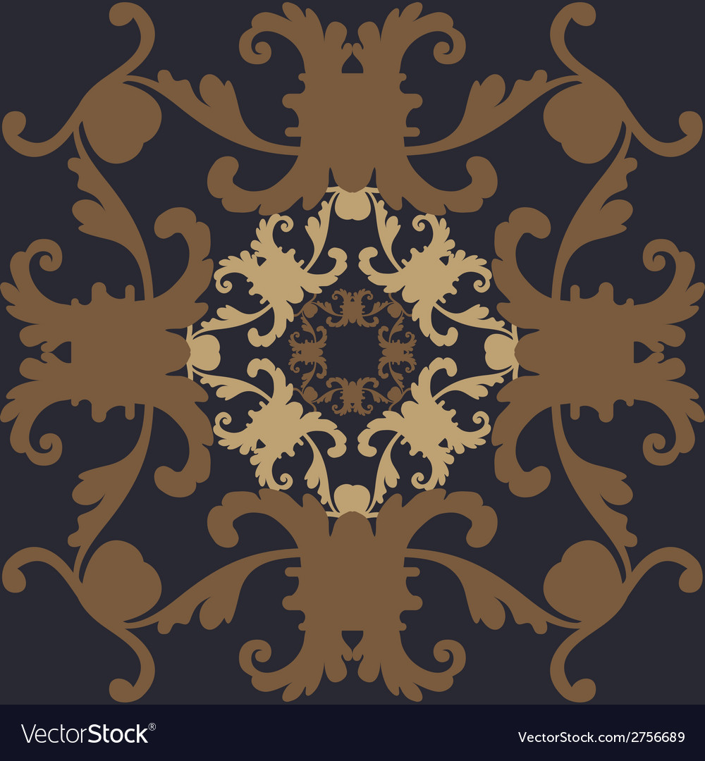 Wallpaper in the style of baroque vector | Price: 1 Credit (USD $1)