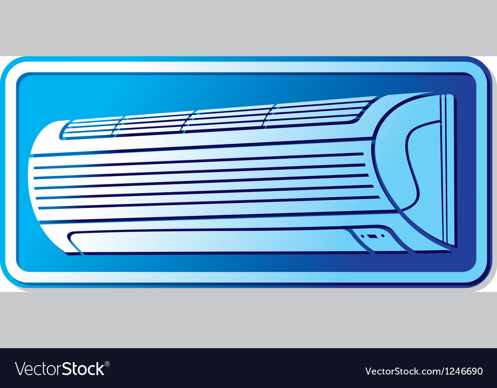Air conditioner icon vector | Price: 1 Credit (USD $1)