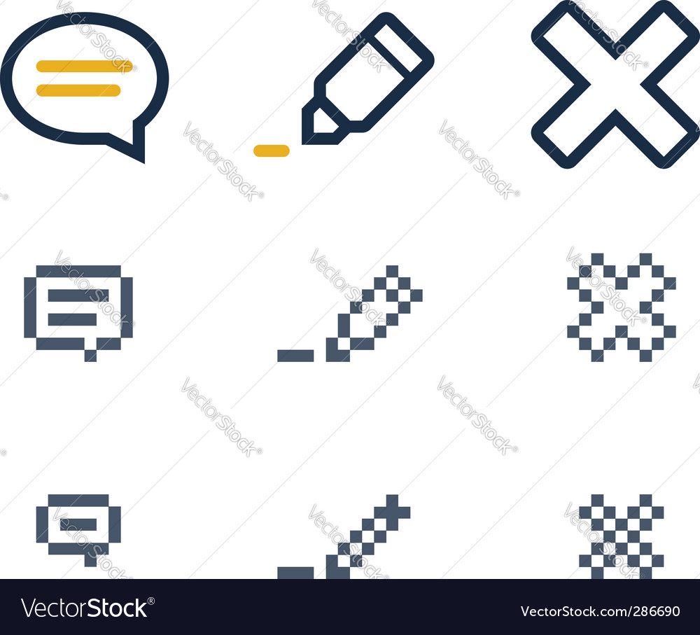 Comment icons vector | Price: 1 Credit (USD $1)