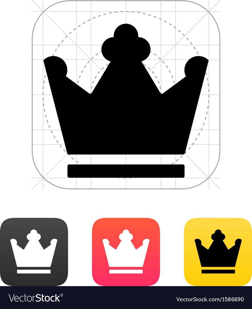 Crown king icons vector | Price: 1 Credit (USD $1)