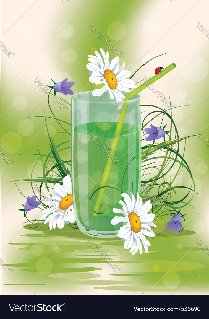 Daisys in a glass vector | Price: 3 Credit (USD $3)