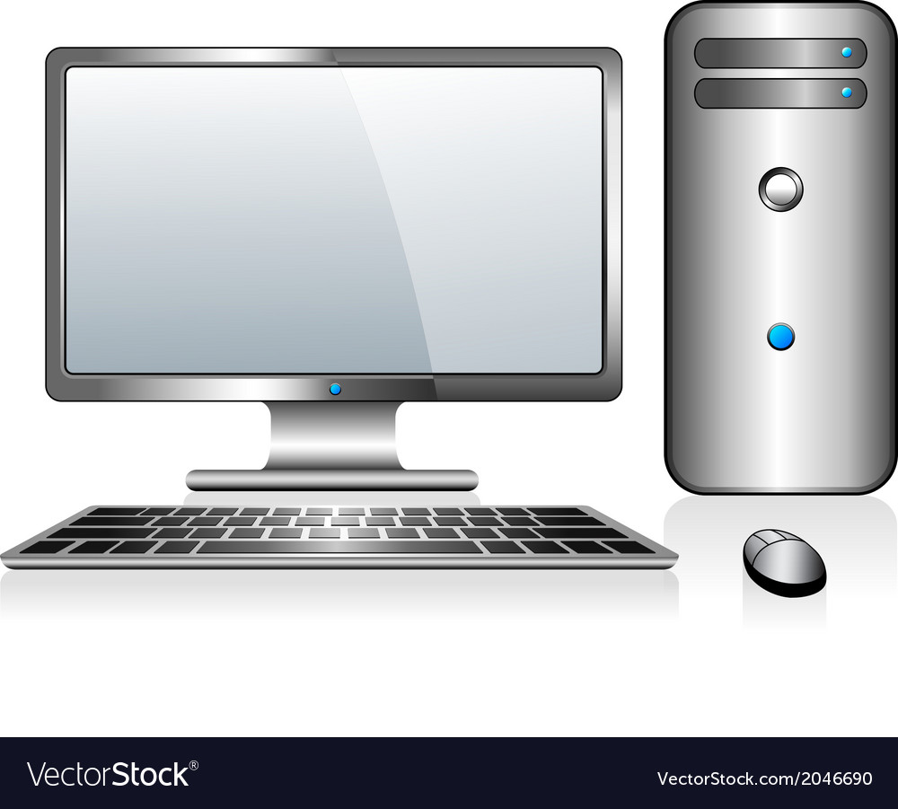 Desktop computer vector | Price: 1 Credit (USD $1)