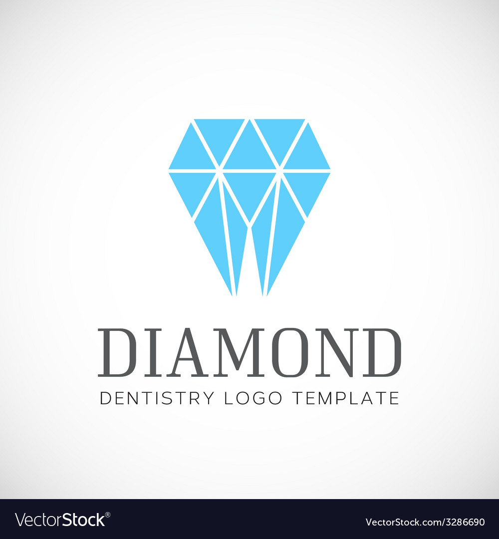 Diamond dentistry tooth abstract logo template vector | Price: 1 Credit (USD $1)