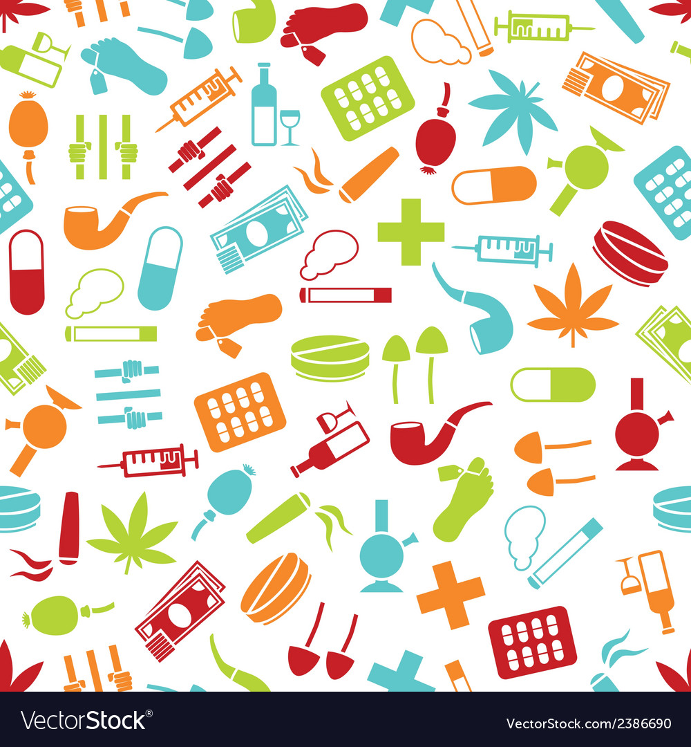 Drug seamless pattern vector | Price: 1 Credit (USD $1)