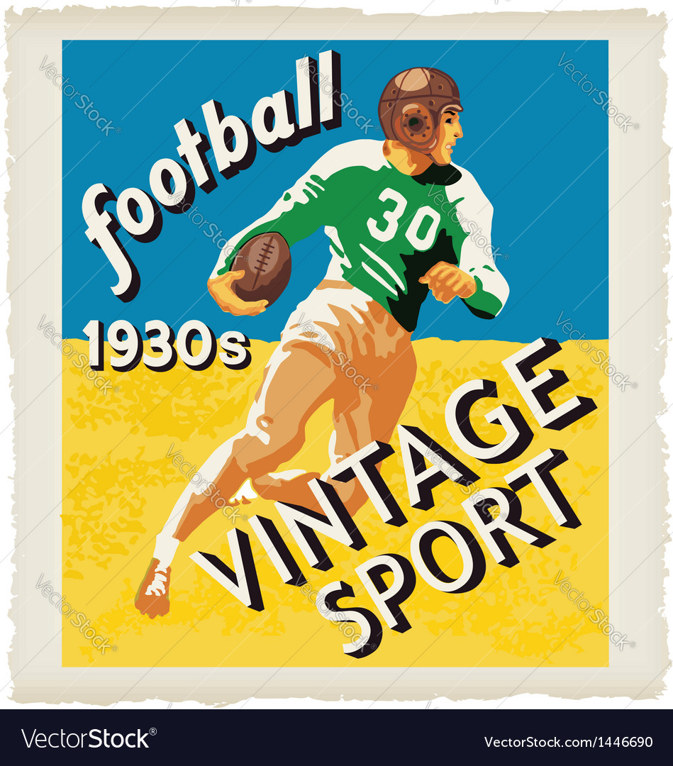 Football vintage vector | Price: 1 Credit (USD $1)