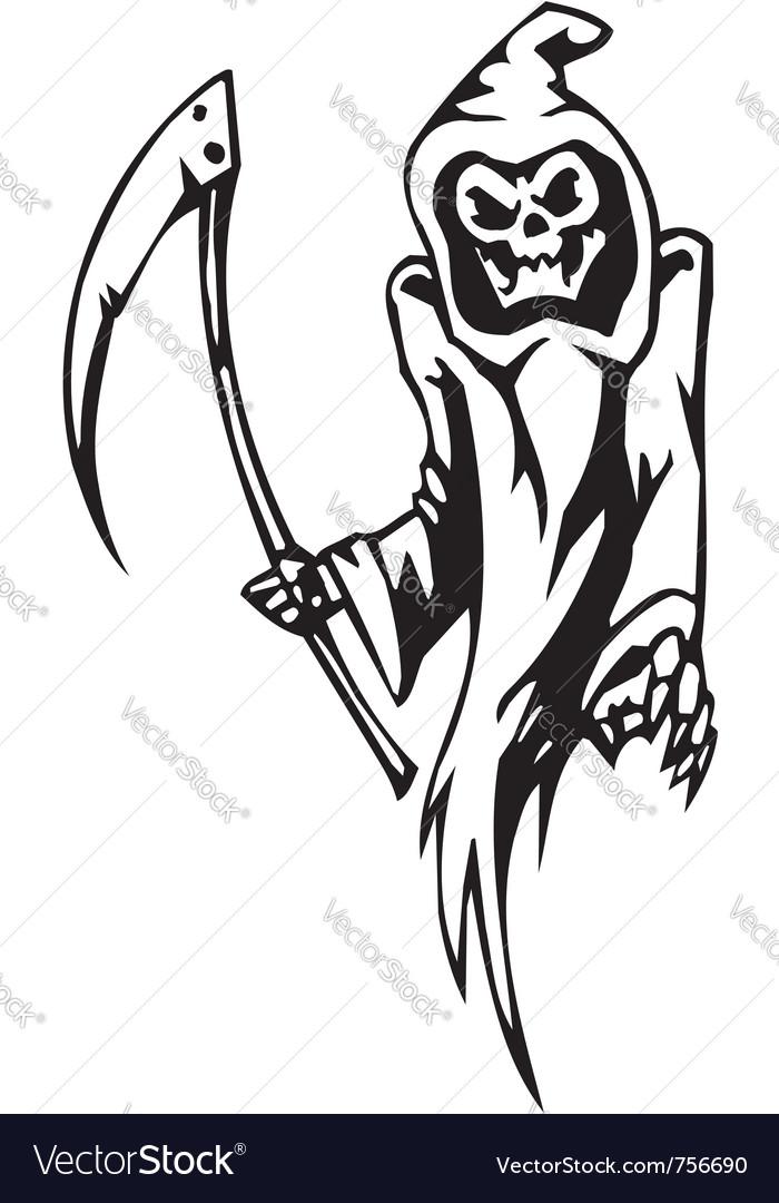 Grim reaper - halloween set - vector | Price: 1 Credit (USD $1)