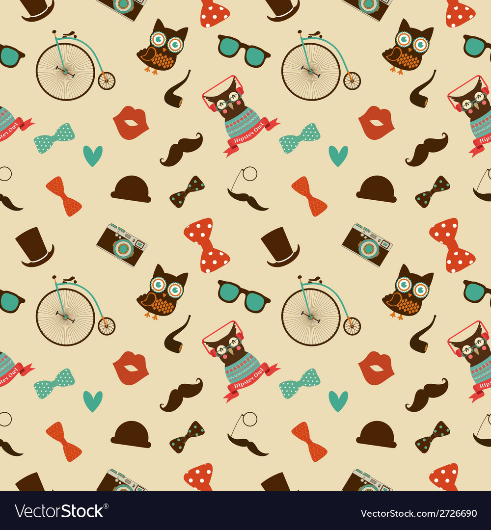 Hipster colorful seamless pattern vector | Price: 1 Credit (USD $1)