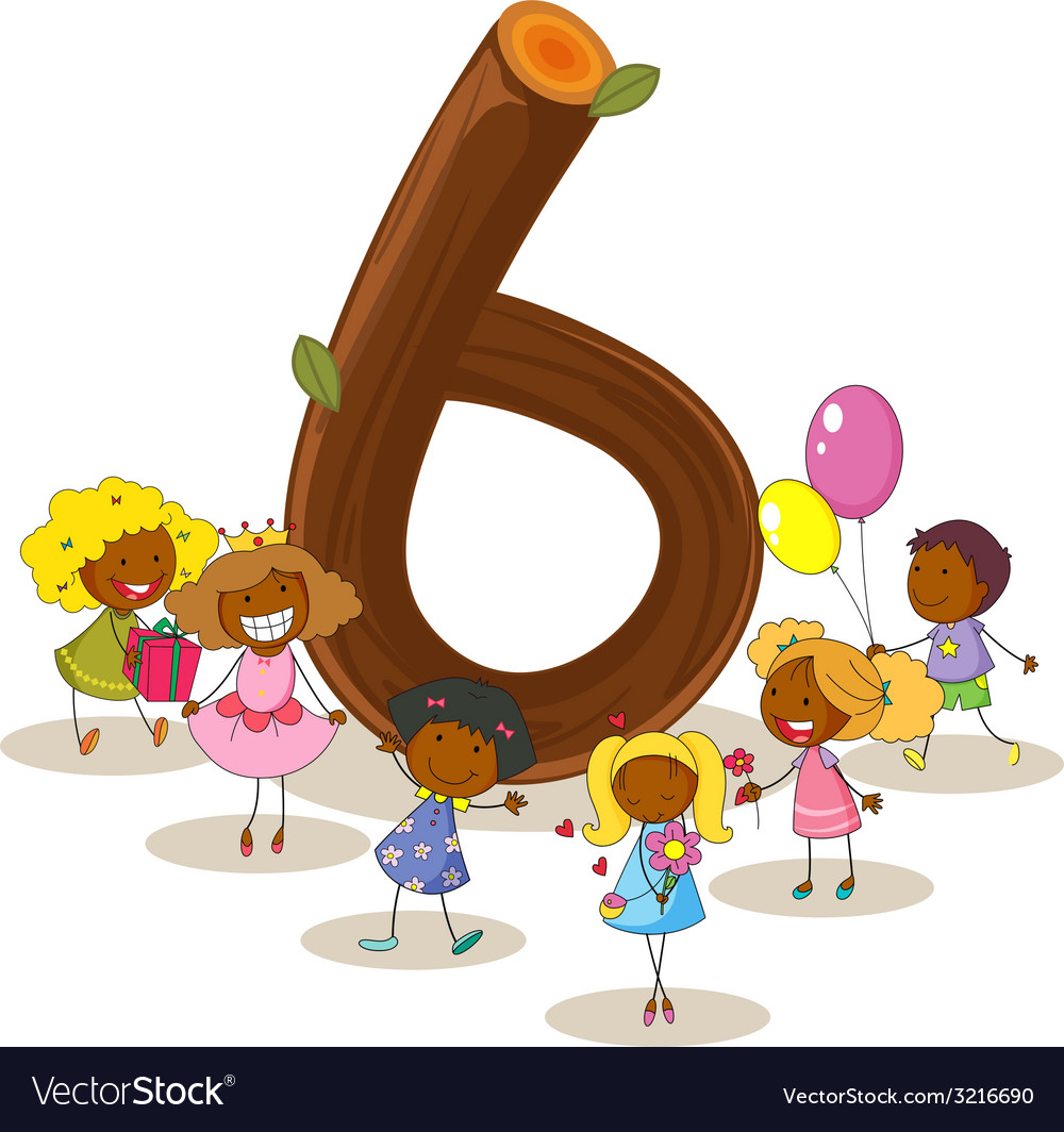 Number six vector   Price: 1 Credit (USD $1)