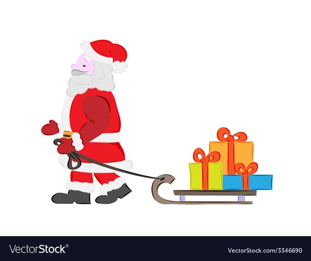 Santa claus and presents vector | Price: 1 Credit (USD $1)