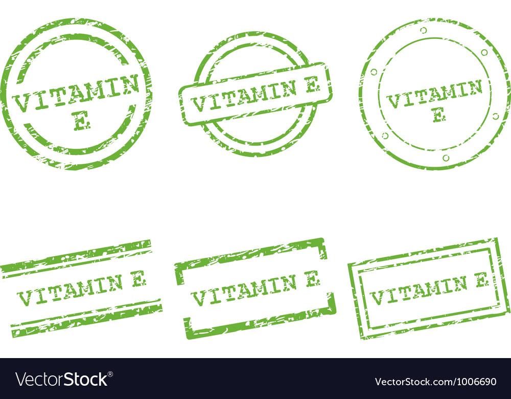 Vitamin e stamps vector | Price: 1 Credit (USD $1)