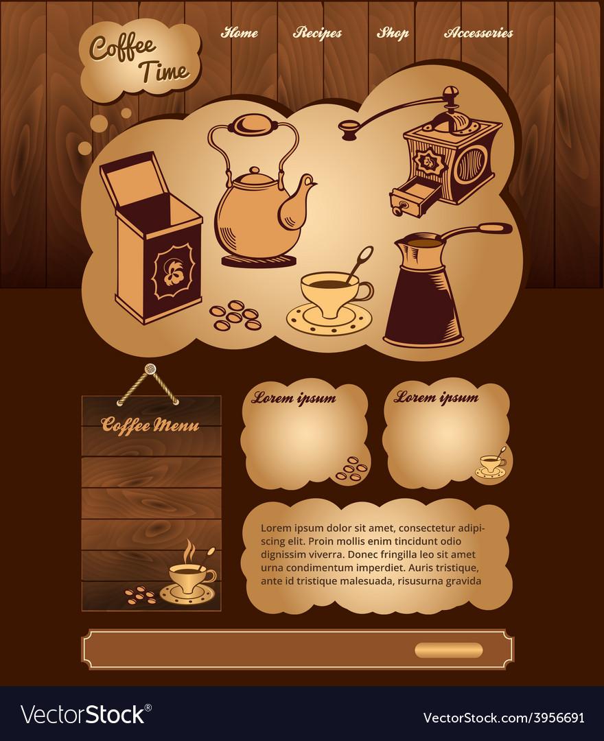 Coffee web template vector | Price: 3 Credit (USD $3)