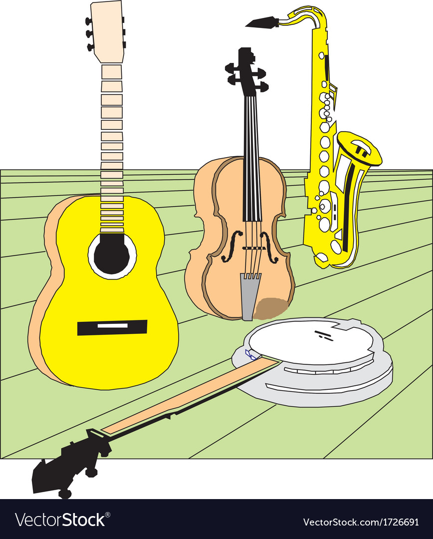 Different music instruments vector | Price: 1 Credit (USD $1)