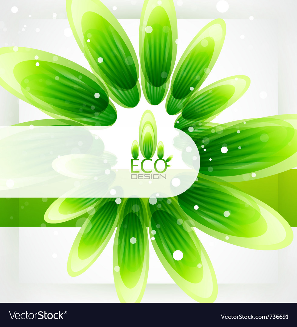 Eco-friendly nature background vector | Price: 1 Credit (USD $1)